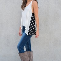 Craving You Striped Tank (Black/White)