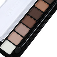 8 Earth Color Nude Makeup Eye Shadow Palette Naked Smoky Glitter Matte Make Up Brush Tool Set Eyeshadow Maquillage Cosmetics