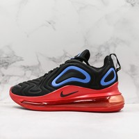 Nike Air Max 720 Black Red Blue Running Shoes - Best Deal Online