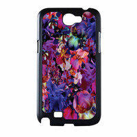 Lush Floral Pattern Beaming Orchid Purple Samsung Galaxy Note 2 Case