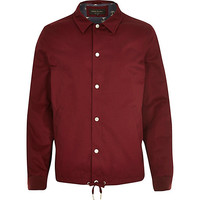 River Island MensRed lightweight casual coach jacket