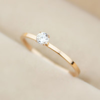 Womens Casual Rose Gold Diamond Ring Love Rings Gift-129