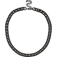 River Island MensBlack matte chunky chain necklace
