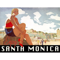 Personalized Santa Monica Wood Sign