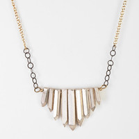 Jessica DeCarlo Metal Crystal Necklace - Urban Outfitters