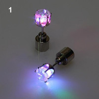 One Pair Shiny Glamor Light Up Led Earrings Studs Dance Party Accessories for Party/Xmas = 1945981444