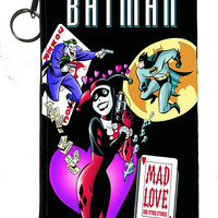 "Batman - Harley Quinn ""Mad Love"" Zipper Pouch 8inch x 4inch"