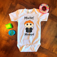 Harry Potter Mischief Managed Funny Baby Onesuit