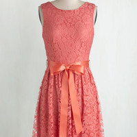 Mid-length Sleeveless A-line Lovely as Lychee Dress in Punch by ModCloth
