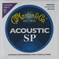 Martin Phosphor Bronze SP Acoustic Guitar Strings Custom Light MSP4050
