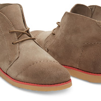 DESERT TAUPE BURNISHED SUEDE WOMEN'S MATEO CHUKKA BOOTIES