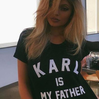 KARL Is My Father Printed T-Shirt