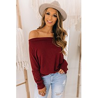 Better With You Off The Shoulder Top (Brick)