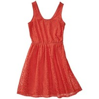 Mossimo Supply Co. Juniors Lace Overlay Fit and Flare Dress - Assorted Colors