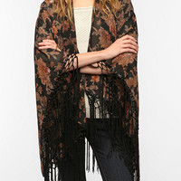 Urban Outfitters - OBEY Fringed Floral Scarf