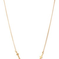 FOREVER 21 Cross Chain Necklace Gold One