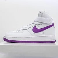 Nike Air Force 1 high-top leather versatile casual sports shoes