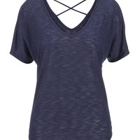 Open Cross Back Dolman Tee