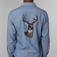 Urban Outfitters - Men's Vintage Painted Deer Chambray Shirt