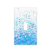 light switch cover - infinity in blue