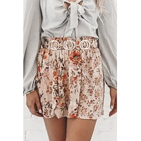 Stop And Smell The Roses Pinted Skirt