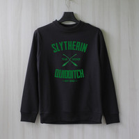 Slytherin Quidditch Harry Potter Shirt Sweatshirt Sweater Shirt – Size XS S M L XL
