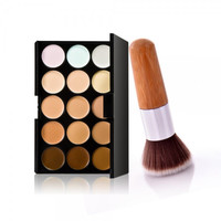 15-Color Concealer Palette & Bamboo Handle Powder Brush Kit Gift + Free Shipping + Big Discount