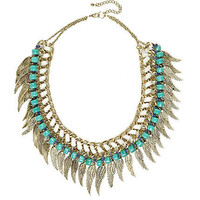 Gold tone angel wing necklace