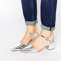 New Look Metallic Pointed Mid Heeled Shoes