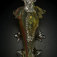 Dragon Glass Tobacco Pipe Very Detailed Gorgeous