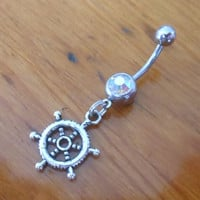 Belly button ring - Ships Wheel Belly Ring