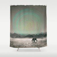 Spinning Out of Nothingness Shower Curtain by Soaring Anchor Designs | Society6