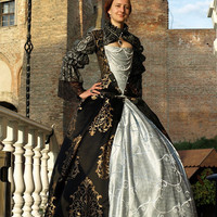 Elizabethan costume Renaissance gown Historical Period  16th Century Costume for Reenactment LARP