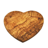 Naturally Med Olive Wood Heart Shaped Board