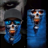 2018 Seamless Skull Skeleton Joker Clown Balaclava Face Mask Scarf Tube Neck Motorcycle Bicycle Hunting Outdoor Bandana Headband