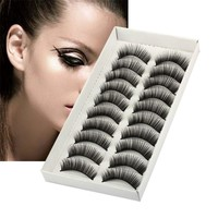 10 Pairs Natural Long Thick Black False Eyelashes Charming Eye Lashes Makeup Pestanas postizas Sztuczne rzesy