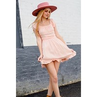 P&M Pink Boho Mini Dress