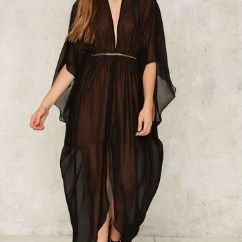 Nasty Gal Collection Chiffon Another Level Sheer Dress