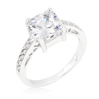 Princess Clear Ring, size : 06