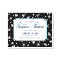 Save the Date Cards - Midnight Snowflake Winter