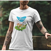 The Jetsons Family in Flying Car T-shirt