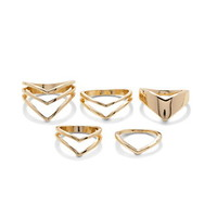 Pointed Cutout Ring Set