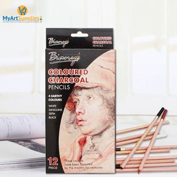 Soft Pastel Charcoal Pencils (Pack of 12)