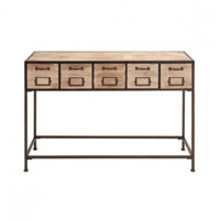 5-Drawer Wood Console Table