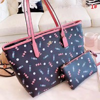 COACH New fashion candy print shoulder bag women handbag 1#