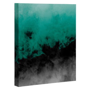Caleb Troy Zero Visibility Emerald Art Canvas