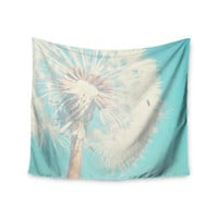 """Sylvia Coomes """"Aqua Dandelion"""" Photography Floral Wall Tapestry"""