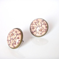 18mm Light Pink Flower Stud Earrings, Light Pink Flower Earrings, Light Pink Post Earrings, Light Pink Blossom Earrings, Light Pink Earrings