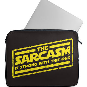 Sarcasm is Strong Laptop Case