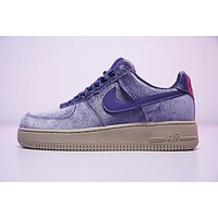 Nike Air Force 1 '07 Low Velvet Sneaker ¡°Purple¡±849345-401